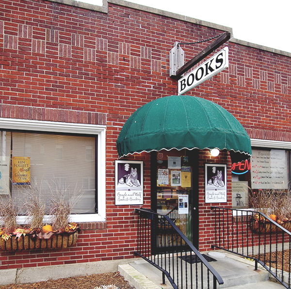 Beagle and Wolf Books & Bindery storefront